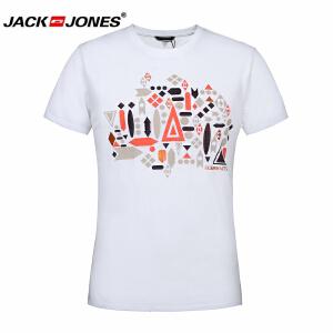 杰克琼斯/JackJones时尚百搭新款T恤 简约--8-4-2-213201057061