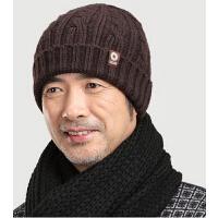 羊毛线帽老人帽子 男冬天中老年男士针织帽冬季老头帽护耳