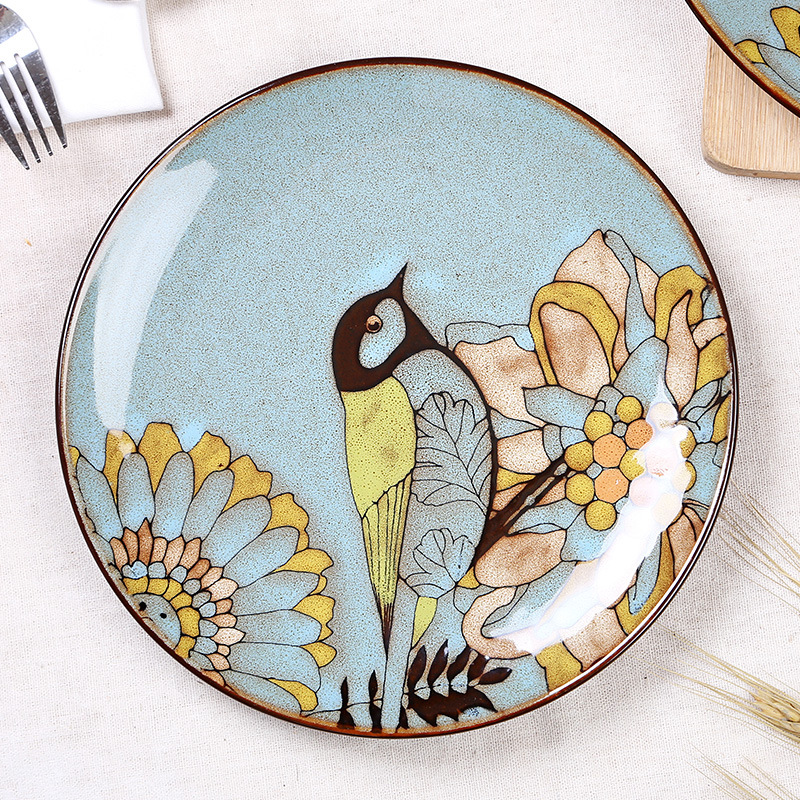 【ceceme碗/碟/盘】手绘陶瓷盘子 复古餐具套装 特色