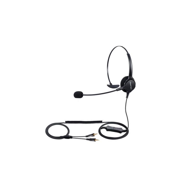 呼叫中心 话务员 电话机耳机耳麦 舒适_电脑口双插头