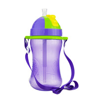 【当当自营】BABISIL贝儿欣 吸管水壶360ml 紫色 水壶/水杯/吸管杯