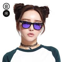 音米太阳镜 女新款复古墨镜偏光镜 司机镜板材太阳镜