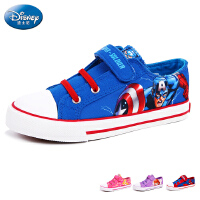 迪士尼儿童帆布鞋2016春季新款美国队长苏菲亚休闲低帮帆布鞋