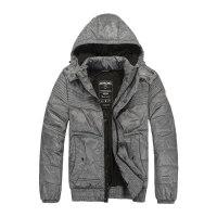 杰克琼斯冬季男士可拆卸帽保暖短款百搭棉服 N-2-211422019010