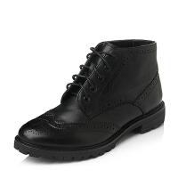 Bata/拔佳专柜同款小牛皮舒适中跟女靴AWG67DD5
