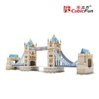 乐立方益智创意儿童玩具立体拼图 3D英国伦敦双子桥纸模模型C702h 伦敦双子桥 益智儿童拼图 3D立体模型