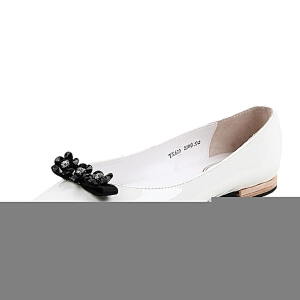 BASTO/百思图春季专柜同款牛皮女单鞋TX620AQ6