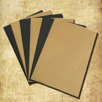 牛皮纸封面B5空白内页涂鸦记事本软面抄复古B5特价