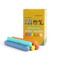 谋福 无尘水溶性粉笔 无毒环保可擦写 黑绿板书写笔 六彩色儿童涂鸦笔
