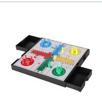 友邦六角跳棋飞行棋二合一两用棋磁性双面大号棋盘儿童益智玩具棋