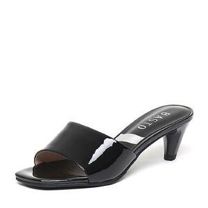 BASTO/百思图夏季专柜同款牛皮简约时尚女鞋TSL02BT6