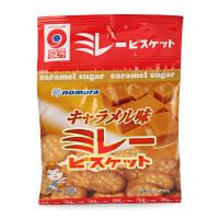 日本进口野村米乐 4包 焦糖味饼干 婴幼儿宝宝磨牙饼干零食
