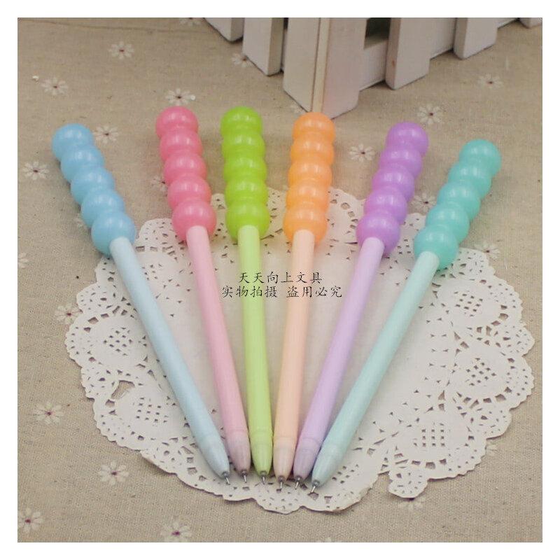 果冻色 水玉 禾硕裸色控冰糖葫芦中性笔创意可爱造型水笔奖品批发