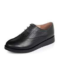 Tata/他她专柜同款牛皮时尚女单鞋2N923CM5