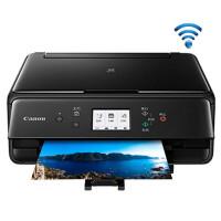 佳能/Canon TS6080 5色彩色喷墨家用照片打印复印扫描一体机 手机无线居家办公照片打印机