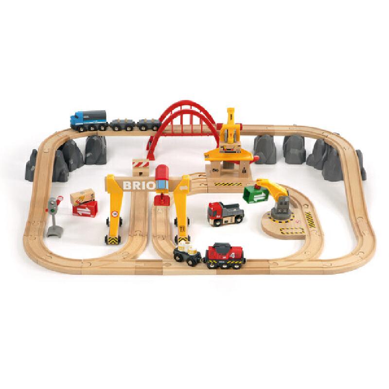 [当当自营]BRIO 货运豪华级轨道套装 儿童益智拼插木制轨道小火车玩具 BR33097【当当自营】BRIO的游乐世界 百年瑞典品牌 木质小火车的领军产品
