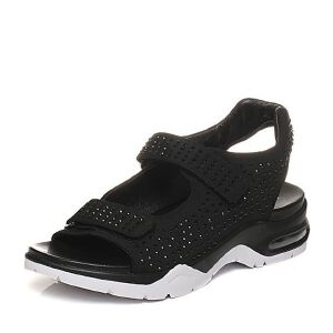 Teenmix/天美意2017夏专柜同款弹力布时尚水钻女凉鞋6Z302BL7