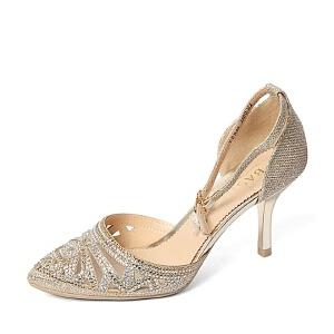 BASTO/百思图春季专柜同款亮片布女凉鞋TPB08AK6 专柜1