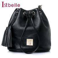 Ist belle/百丽箱包牛皮时尚抽绳女包水桶包Y8606AX6
