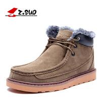 走索冬季男士雪地靴大码英伦潮流短靴真皮保暖加绒高帮棉鞋靴子男zs022