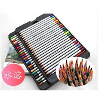 36,48水溶性彩色铅笔 铁盒装可画秘密花园和飞鸟等入门手绘涂色书本