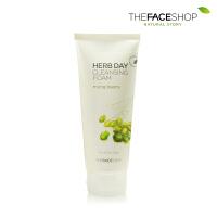 【正品保证】The Face Shop 洗面奶 草本绿豆泡沫洁面膏1只装 韩国正品
