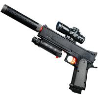 宜佳达 玩具枪 可发射水晶弹子弹 连发软弹 电动狙击枪玩具 YJD502柯尔特手枪