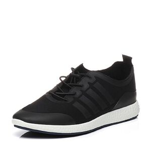 BASTO/百思图2017春季专柜同款布平跟系带运动风男休闲鞋BID02AM7