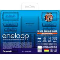 爱乐普(eneloop)5号7号高性能智能急速充电家庭套装 12节装
