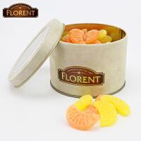 费罗伦法国原装进口水果糖Florent桔子柠檬糖200g儿童糖果 生日礼物休闲零食
