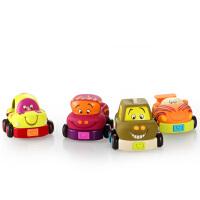 汽车模型 玩具 车 美国B.Toys 宝宝小车玩具车回力车卡通车 婴儿益智汽车模型玩具 4个装