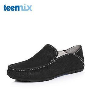 Teenmix/天美意春季专柜同款牛皮简约舒适男单鞋1VM0TAM6