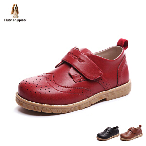 暇步士童鞋17年夏新款皮鞋男女童真皮儿童鞋小童绅士演出鞋英伦风 DP9080