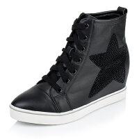 Tata/他她专柜同款牛皮女短靴2V345CD5