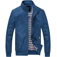 唐裳韩版商务修身针织夹克男士立领薄款外套休闲青年个性潮流纯色上衣