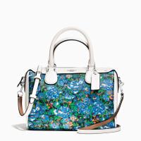 【当当自营】蔻驰(COACH)新款女士玫瑰花卉图案波士顿女包手提包斜挎包 F57921