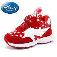 迪士尼儿童运动鞋男童鞋2016女童鞋学生跑步鞋慢跑鞋反绒皮童鞋