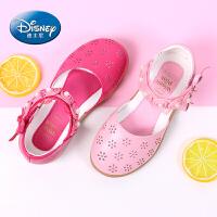 迪士尼女童单鞋真皮公主鞋2017夏韩版儿童凉鞋中小童学生包头凉鞋