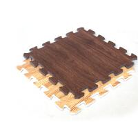 明德木纹小号环保耐磨EVA泡沫地垫宝宝爬行垫30*30*1�M 9片装  咖啡色地毯地垫
