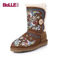 Belle/百丽 羊皮毛一体女皮靴88-25MDZ5