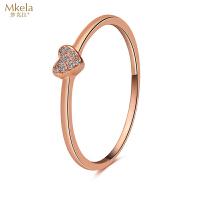 梦克拉 18K金钻石戒指 告白 k金钻饰 心形指环 可礼品卡购买