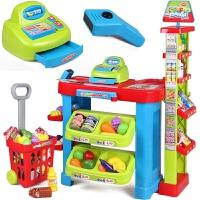 儿童过家家玩具套装仿真超市收银机宝宝女孩玩具娃娃过家家玩具超市收银台节日生日礼物*