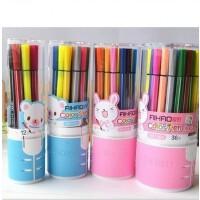 爱好1661儿童水彩笔 12色24色36色涂鸦笔套装 水彩笔可水洗 无毒