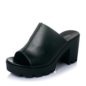 Teenmix/天美意夏专柜同款-牛皮革女皮鞋6K201BT6