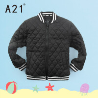 以纯A21童装保暖加厚棉服外套男童中大童大衣2016秋季新款
