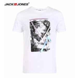 杰克琼斯/JackJones时尚百搭新款夏季T恤 印花T恤-38-2-1-217101504A06