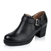 Tata/他她专柜同款小牛皮女单鞋2XD26CM5