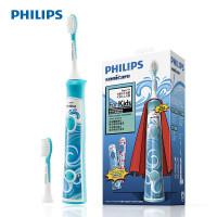 飞利浦电动牙刷HX6312 充电式儿童电动牙刷 声波震动儿童牙刷
