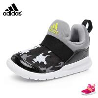 阿迪达斯adidas童鞋17秋季婴童训练鞋宝宝学步鞋小海马系列儿童运动鞋 红色(0-4岁可选) CG3253
