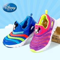 迪士尼Disney童鞋夏季男女童运动鞋中大童毛毛虫小童休闲鞋春秋